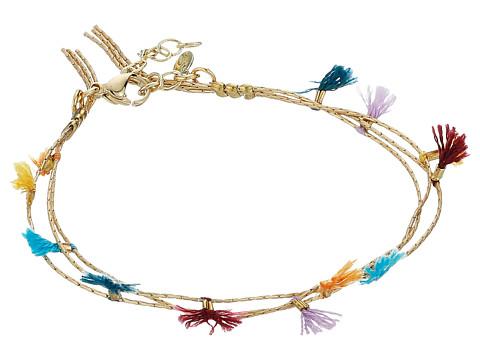 SHASHI Olivia Multi Row Tassel Bracelet - Gold/Vermeil/Multicolored Tassels
