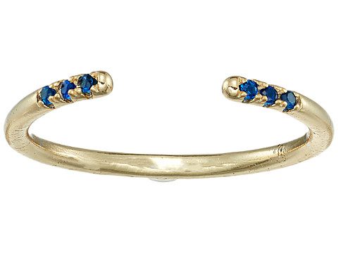 SHASHI Ava Ring with Crystal Stones - Gold/Vermeil/Sapphire
