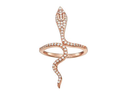 SHASHI Snake Wrap Ring - Rose Gold