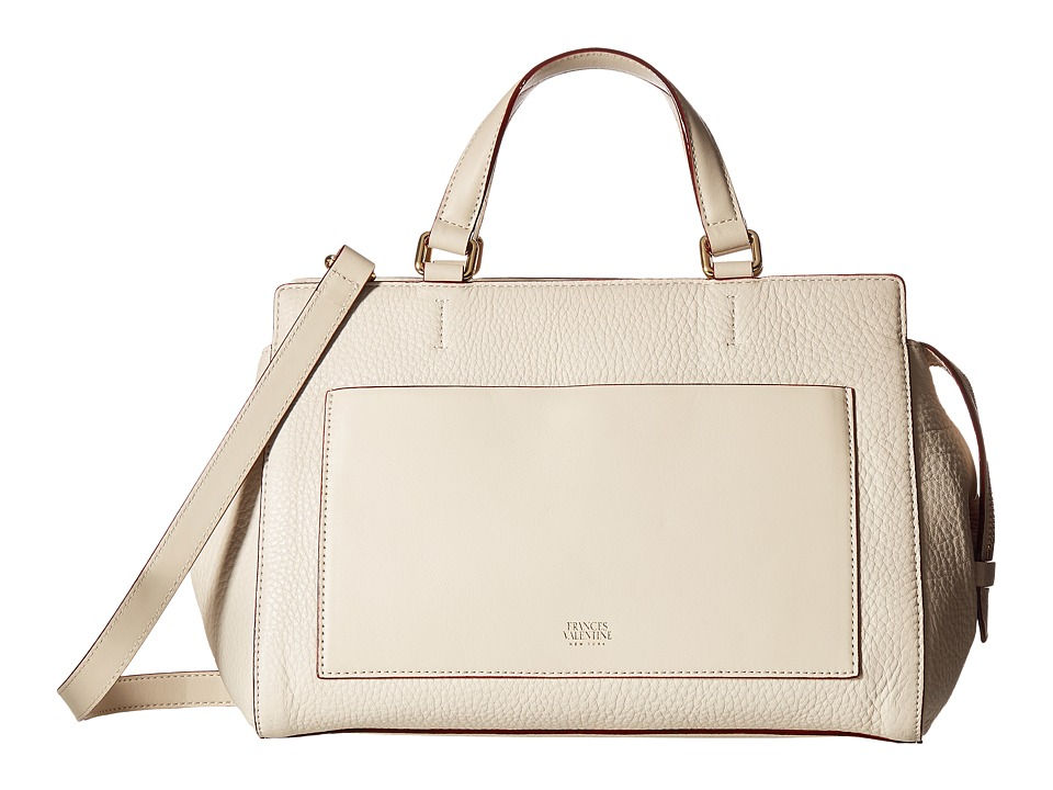 Frances Valentine - Anna Double Handle Satchel (Oyster) Satchel Handbags