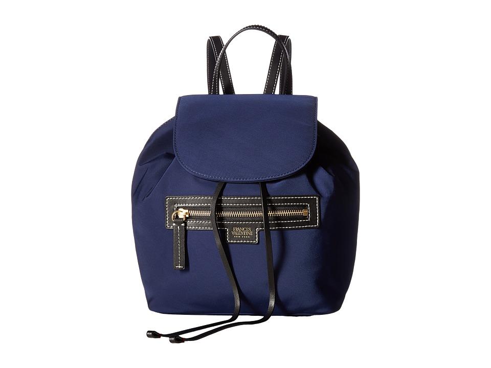 Frances Valentine - Drawstring Backpack (Navy) Backpack Bags