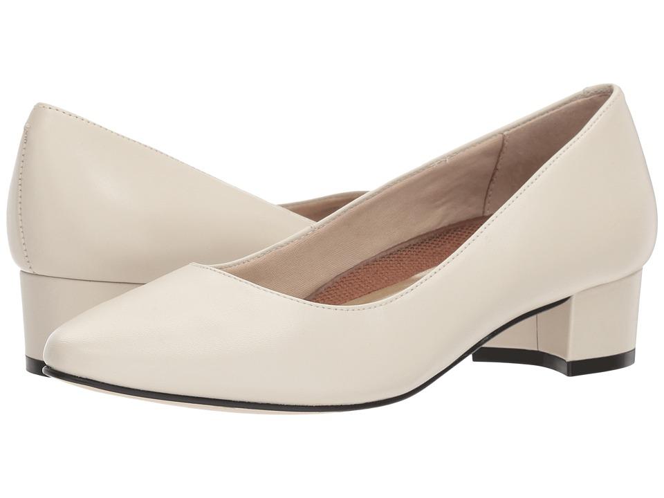 Vintage Wedding Shoes, Flats, Boots, Heels Walking Cradles - Heidi Bone Leather Womens 1-2 inch heel Shoes $100.00 AT vintagedancer.com