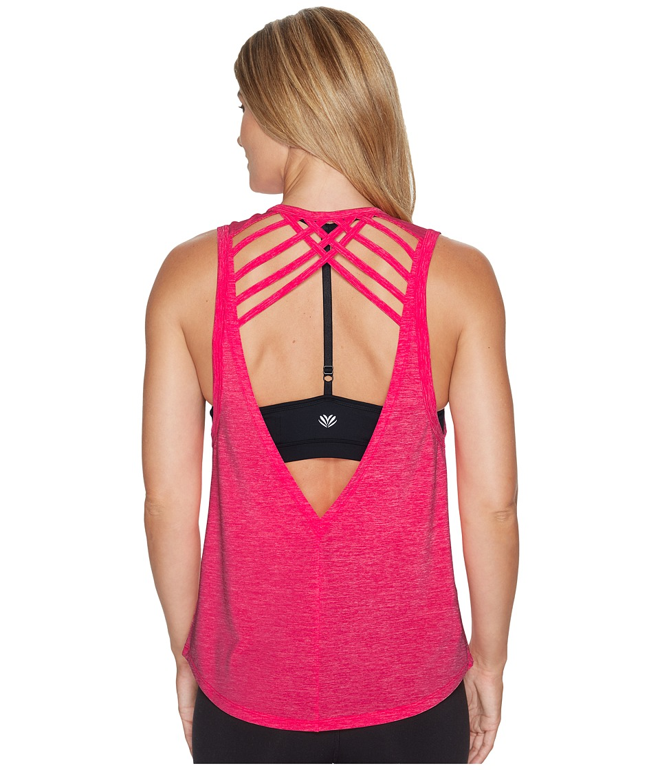 Lorna Jane Ivy Active Tank Top (Nectarine Marl) Women