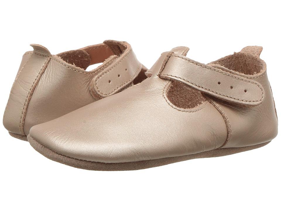 Bobux Kids - Soft Sole T-Bar (Infant) (Gold) Girls Shoes