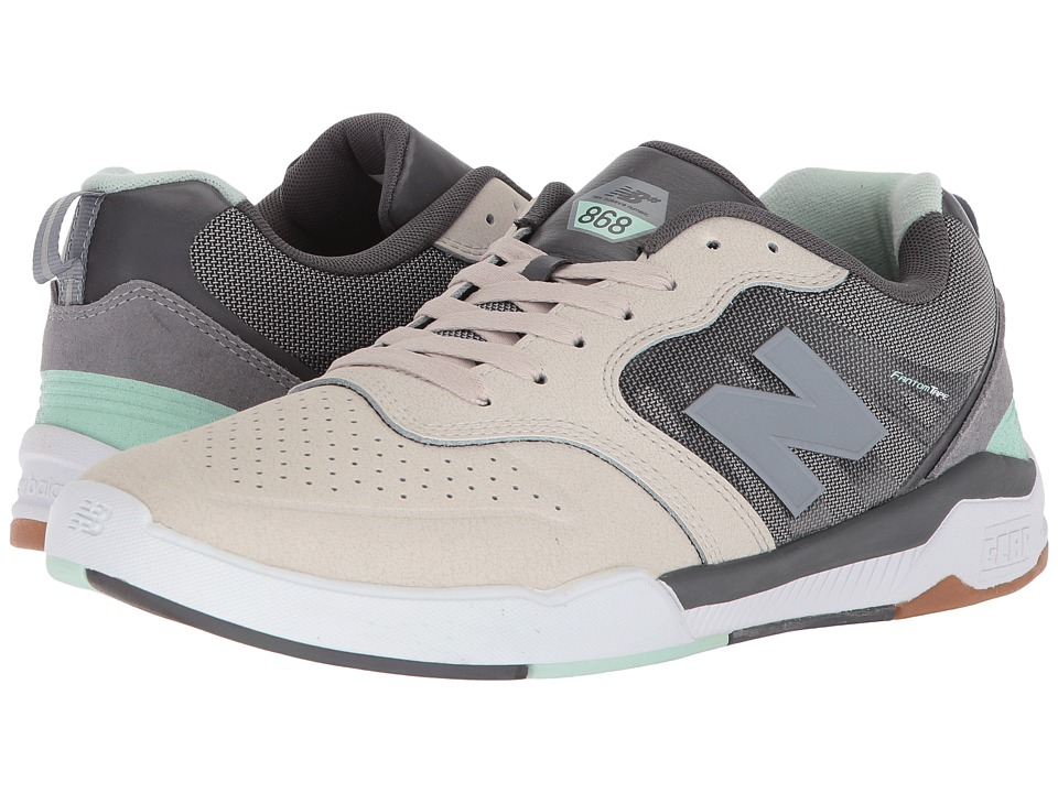 New Balance Numeric - NM868 (Grey/Mint) Mens Skate Shoes