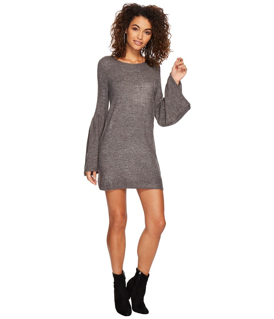 kensie Warm Touch Sweater Dress KSDK8191 (Heather Dark Grey) Women