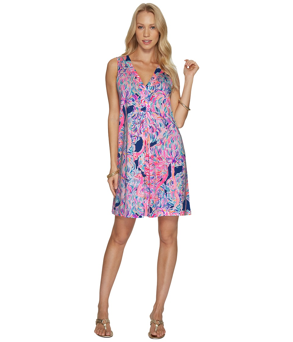 Lilly Pulitzer Amina Dress (Pelican Pink Head In The Sand) Women