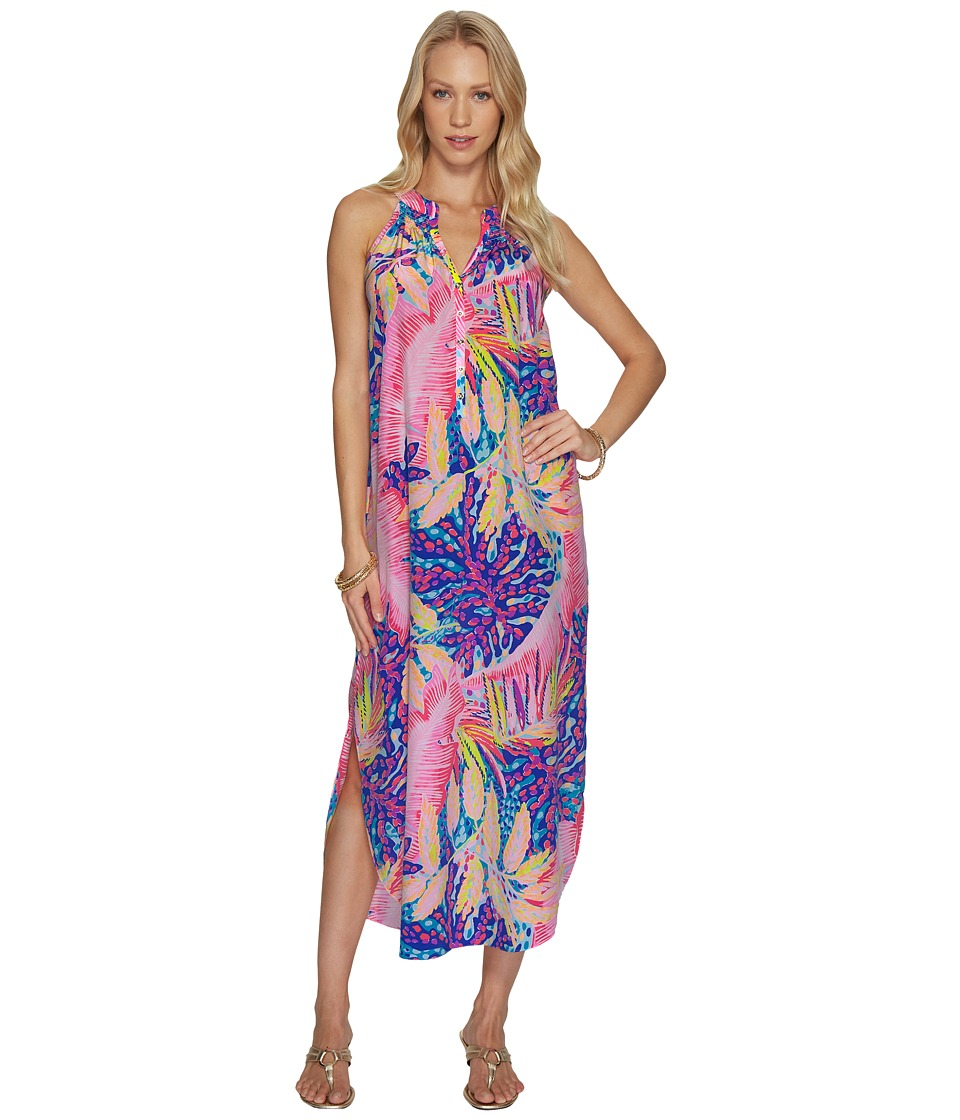 Lilly Pulitzer Bailey Silk Midi Dress (Multi Off The Grid) Women