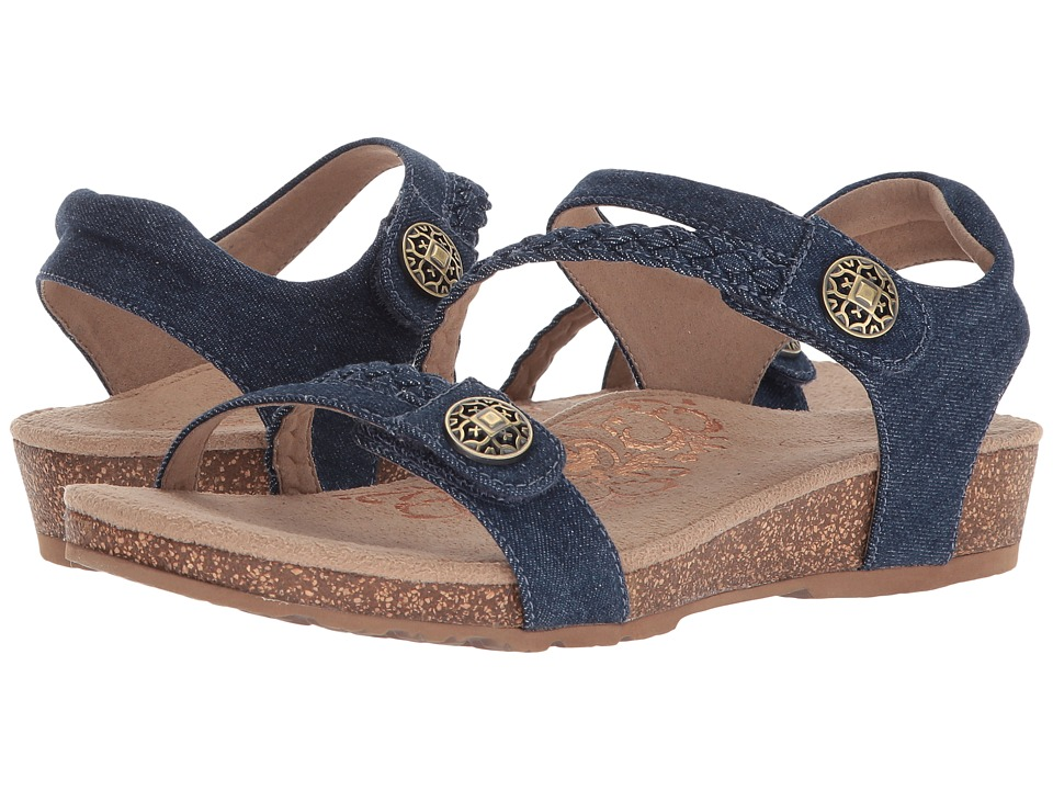 Aetrex - Jillian Quarter Strap (Denim) Womens Sandals