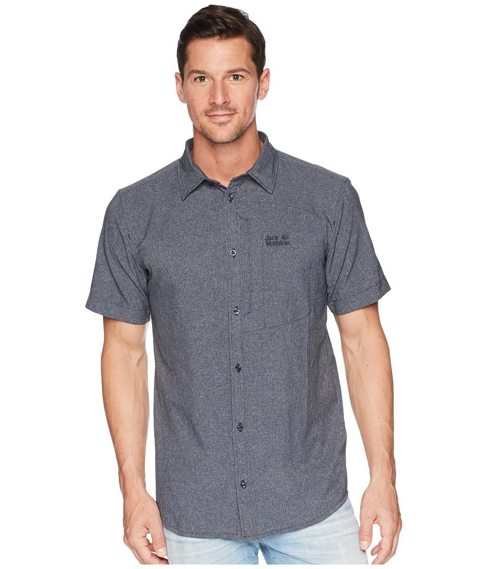 Jack Wolfskin - Barrel Shirt (Night Blue) Mens Clothing