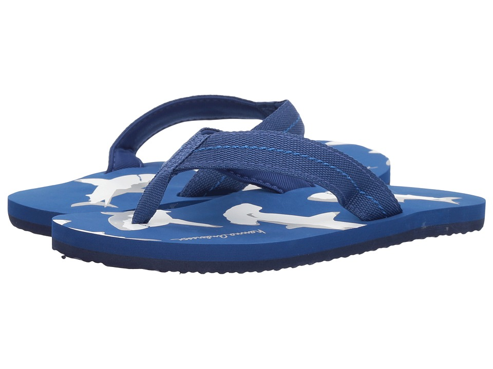 Hanna Andersson - Sunny Day Flip Flops (Toddler/Little Kid/Big Kid) (Deep Blue Sea) Boys Shoes