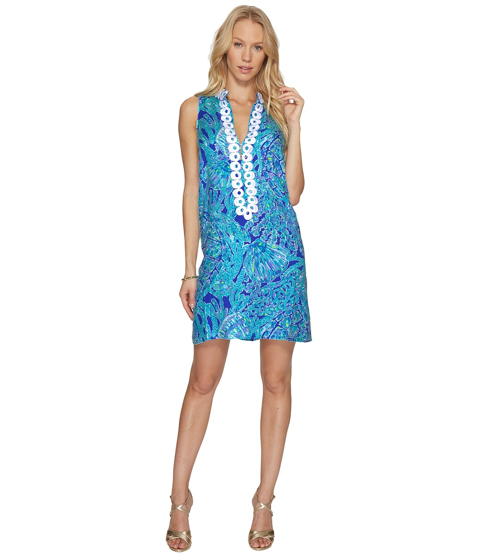 Lilly Pulitzer Jane Shift (Capri Teal Pop Up Tortuga Time) Women