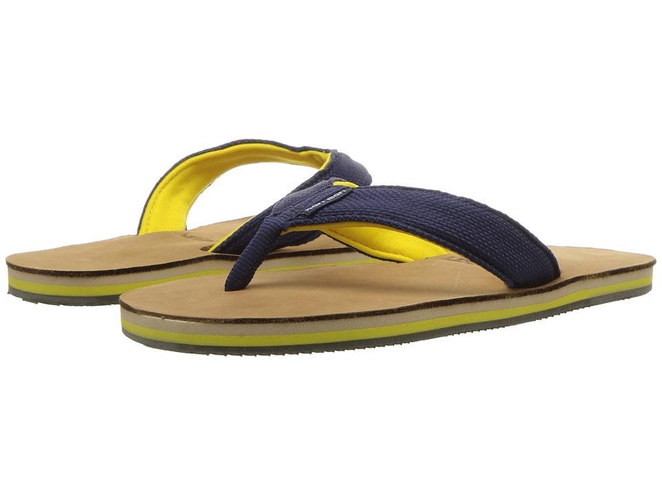 Hari Mari - Scouts (Little Kid/Big Kid) (Navy/Yellow) Sandals