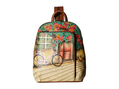 Anuschka Handbags 487 Sling Over Travel Backpack - Vintage Bike