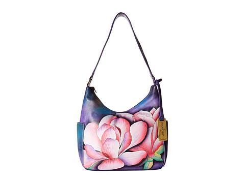Anuschka Handbags 382 Classic Hobo With Side Pockets - Magnolia Melody