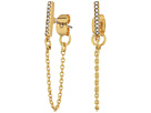 Rebecca Minkoff Pave Bar Chain Earrings