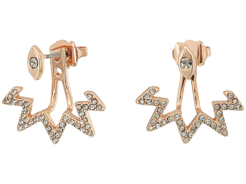 Rebecca Minkoff - Stargazing Front Back Earrings (Rose Gold) Earring