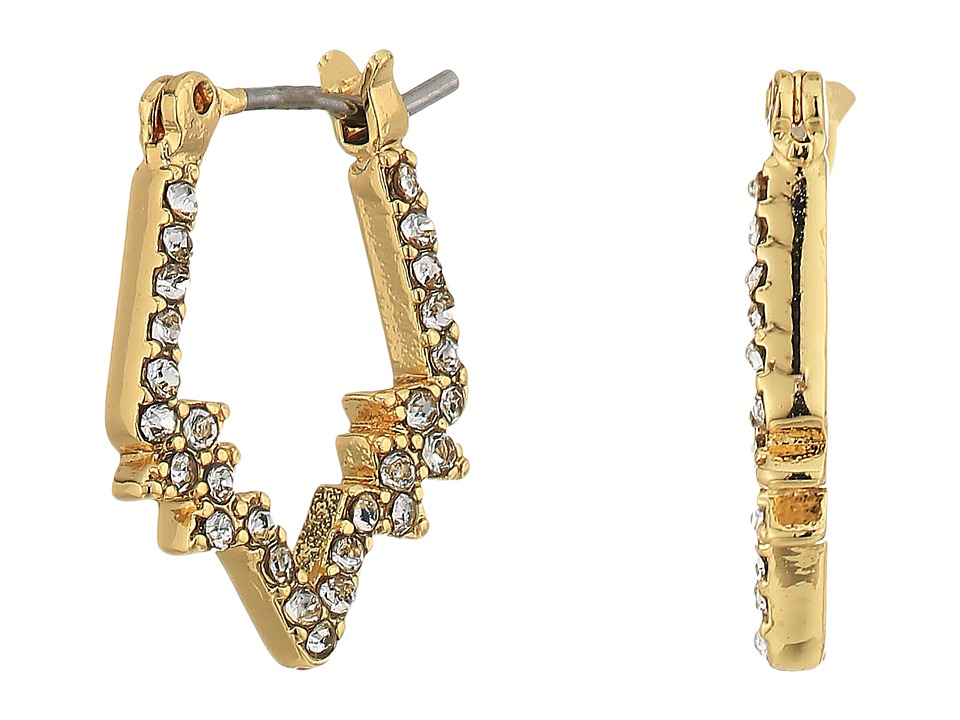 Rebecca Minkoff - Stargazing Mini Hoop Earrings (Gold) Earring