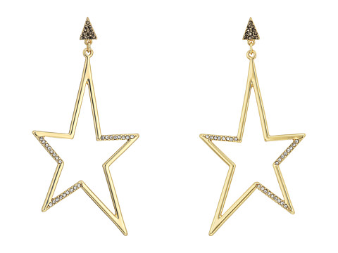 Rebecca Minkoff Stargazing Drama Star Statement Earrings - Gold