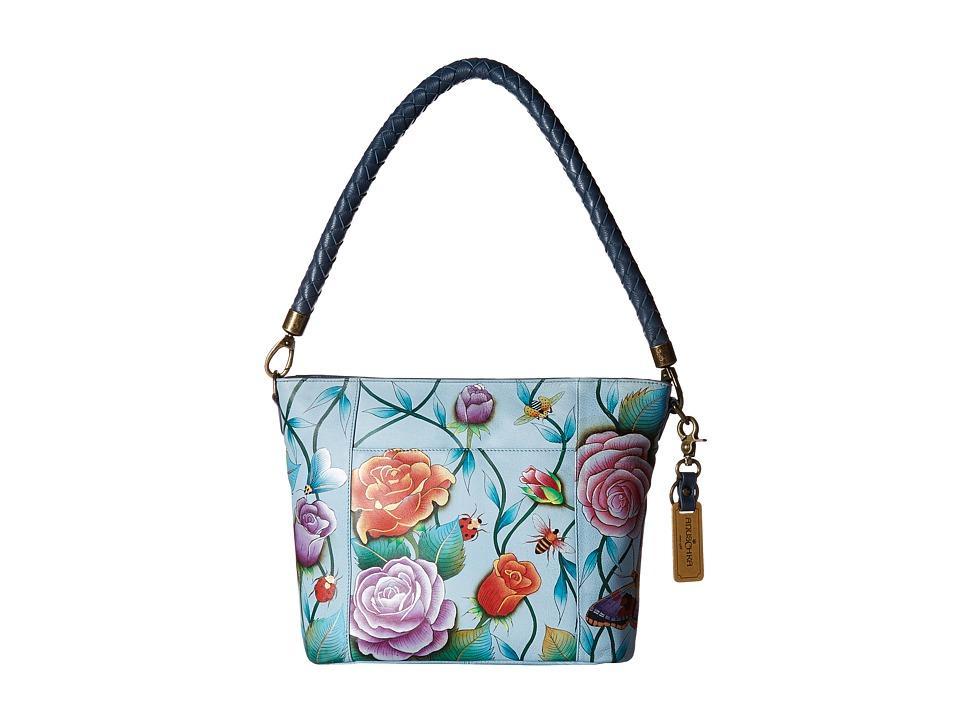 Anuschka Handbags - 608 Medium Hobo (Roses D'Amour) Handbags