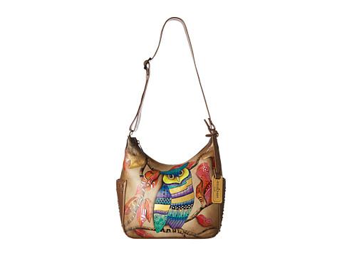 Anuschka Handbags 433 Classic Hobo With Studded Side Pockets - Magical Night