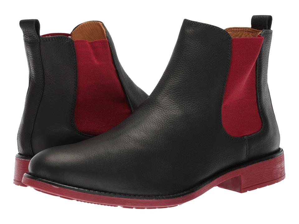 Massimo Matteo Chelsea PT Boot (Black/Red) Men