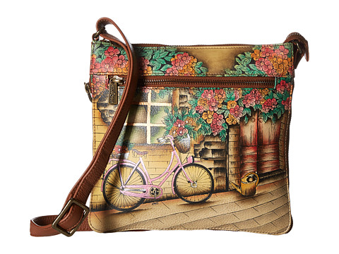 Anuschka Handbags 550 Expandable Travel Crossbody - Vintage Bike