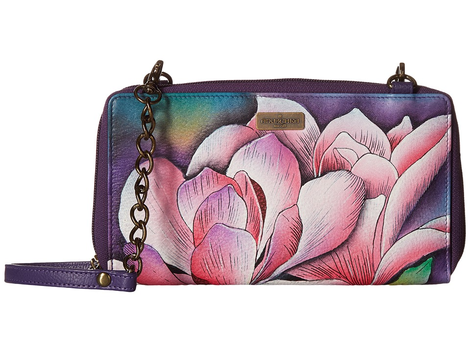 Anuschka Handbags - 1144 ZIP AROUND RFID CROSSBODY CLUTCH