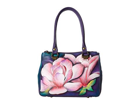 Anuschka Handbags 626 Triple Compartment Medium Tote - Magnolia Melody