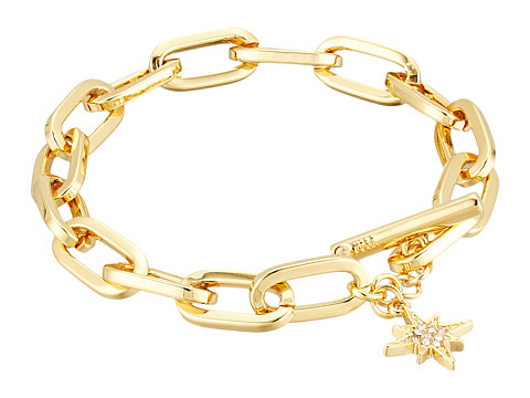 Rebecca Minkoff Signature Link Star Charm Bracelet - Gold