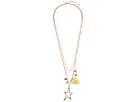 Rebecca Minkoff Guitar Pick Charm Cluster Necklace