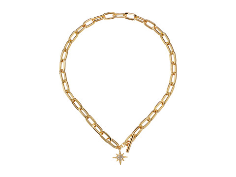 Rebecca Minkoff Signature Link Star Charm Necklace - Gold