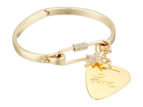 Rebecca Minkoff Guitar Pick Hinged Cuff Bracelet - Gold