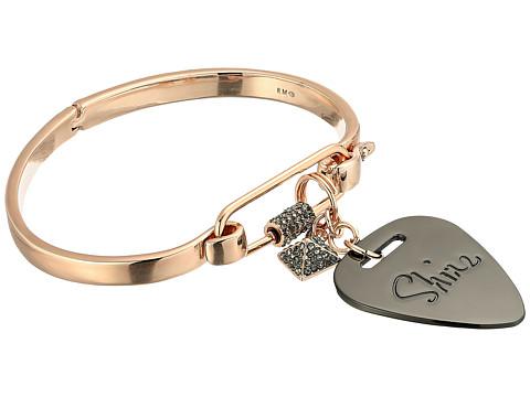 Rebecca Minkoff Guitar Pick Hinged Cuff Bracelet - Rose Gold/Hematite