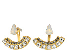 Rebecca Minkoff Clara Stone Front Back Earrings