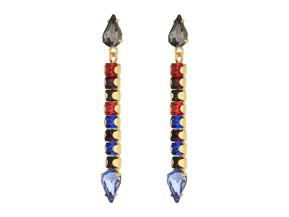 Rebecca Minkoff - Clara Stone Stick Earrings (Gold/Bright Multi) Earring