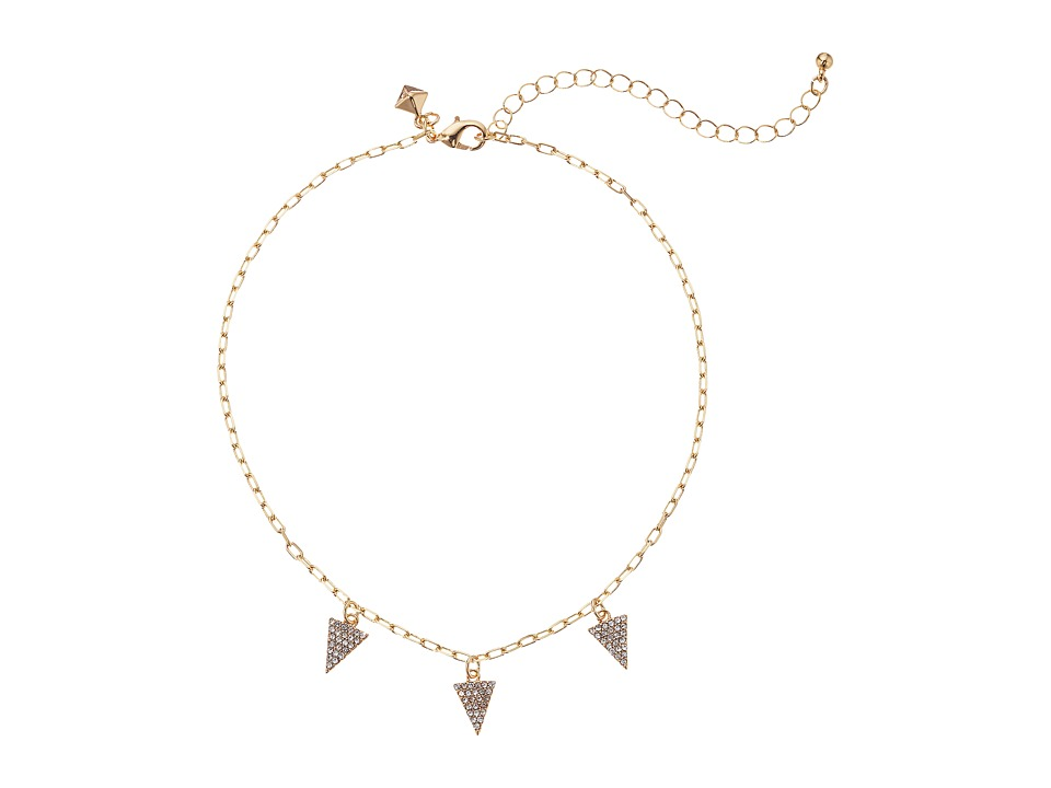 Rebecca Minkoff - Pave Pyramid Necklace (Gold) Necklace