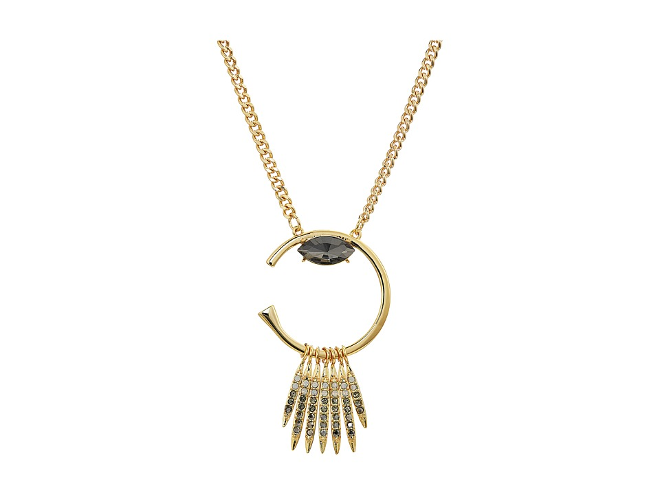 Rebecca Minkoff - Peyton Deco Pendant Necklace (Gold) Necklace