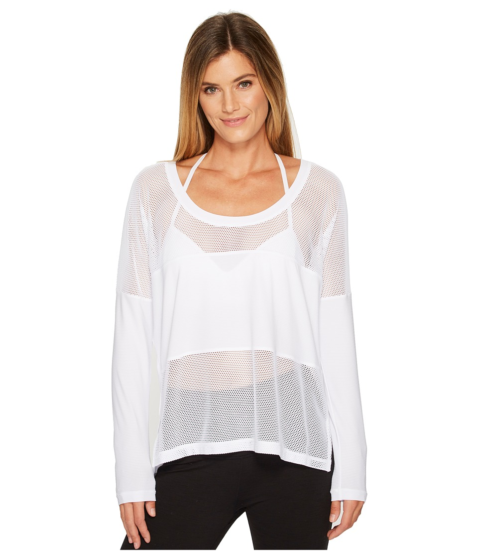 Lorna Jane - First Light Long Sleeve Excel Tee (White) Womens T Shirt