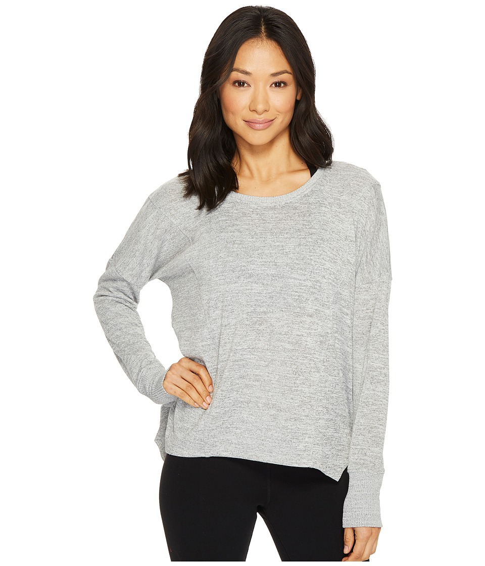 Lorna Jane - Darcy Long Sleeve Top (Snow Grey Marl) Womens Clothing
