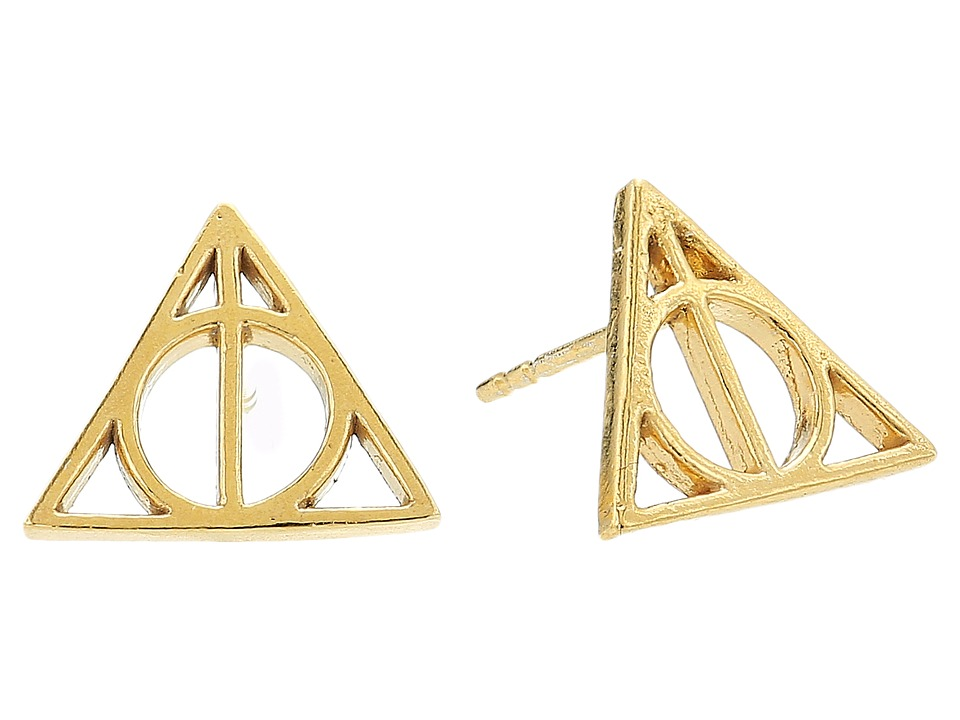 Alex and Ani - Harry Potter Deathly Hallows Earrings (14KT Gold Plated) Earring