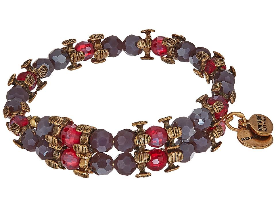 Alex and Ani - Splendor Wrap Aubergine Bracelet (Rafaelian Gold) Bracelet