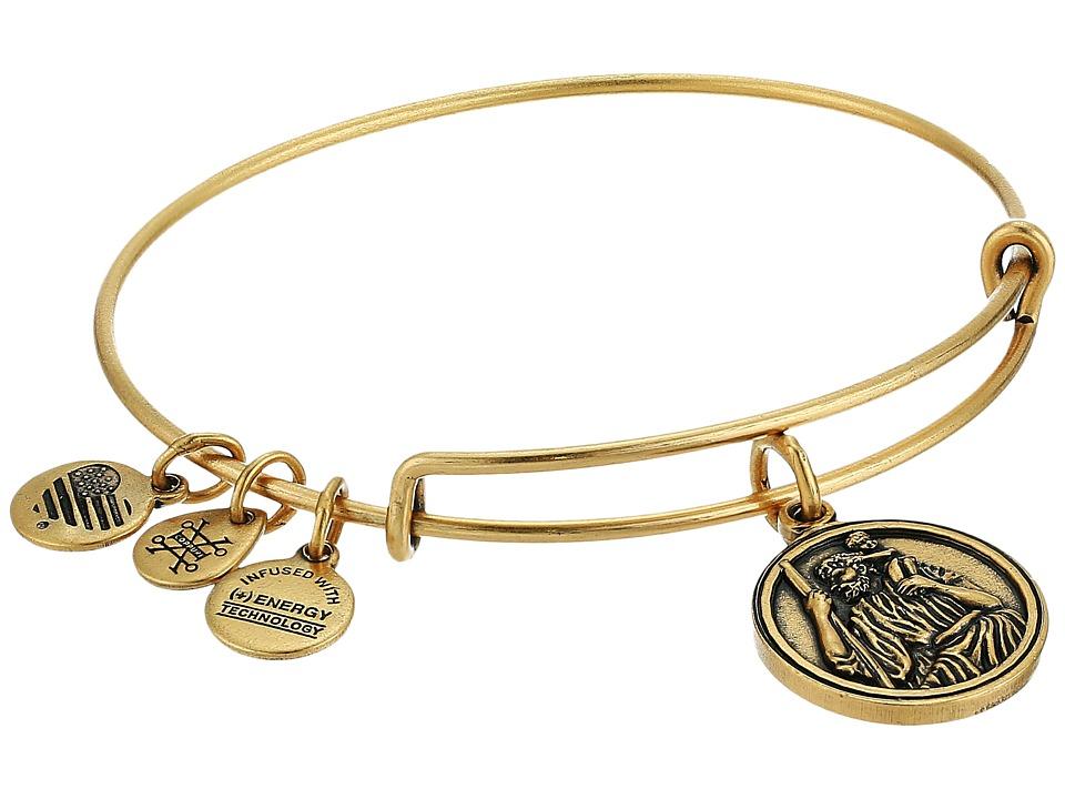 Alex and Ani - Saint Christopher III Bangle (Rafaelian Gold) Bracelet