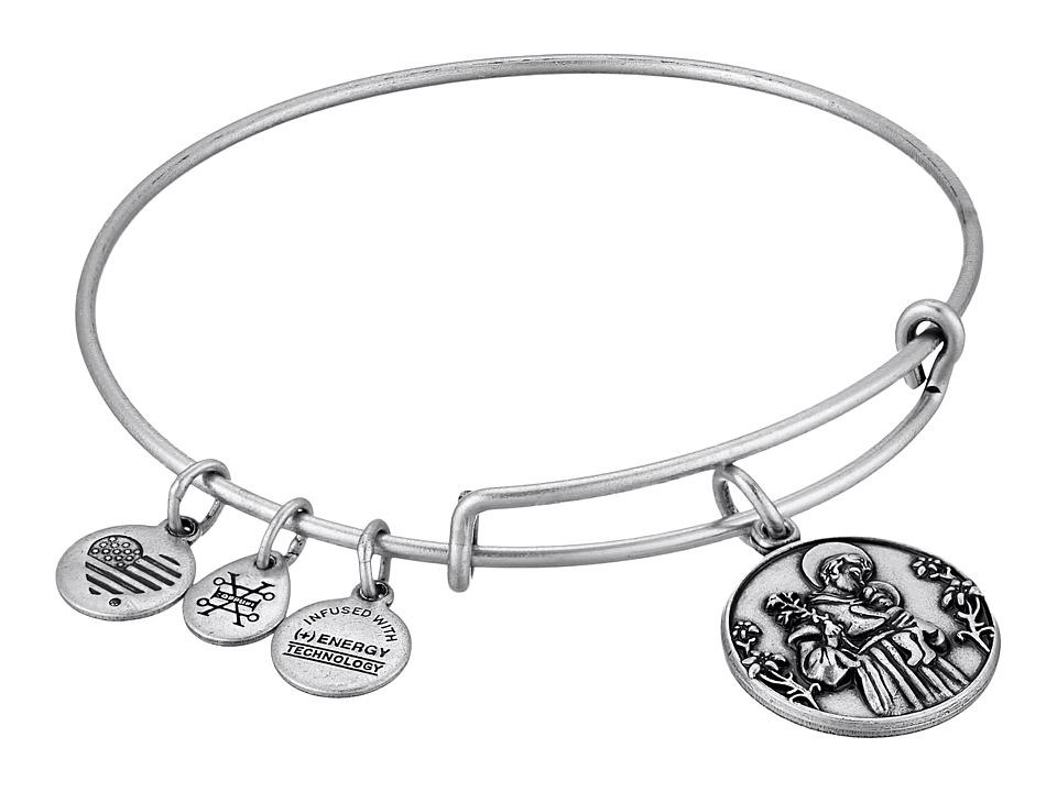 Alex and Ani - Saint Anthony II Bangle (Rafaelian Silver) Bracelet