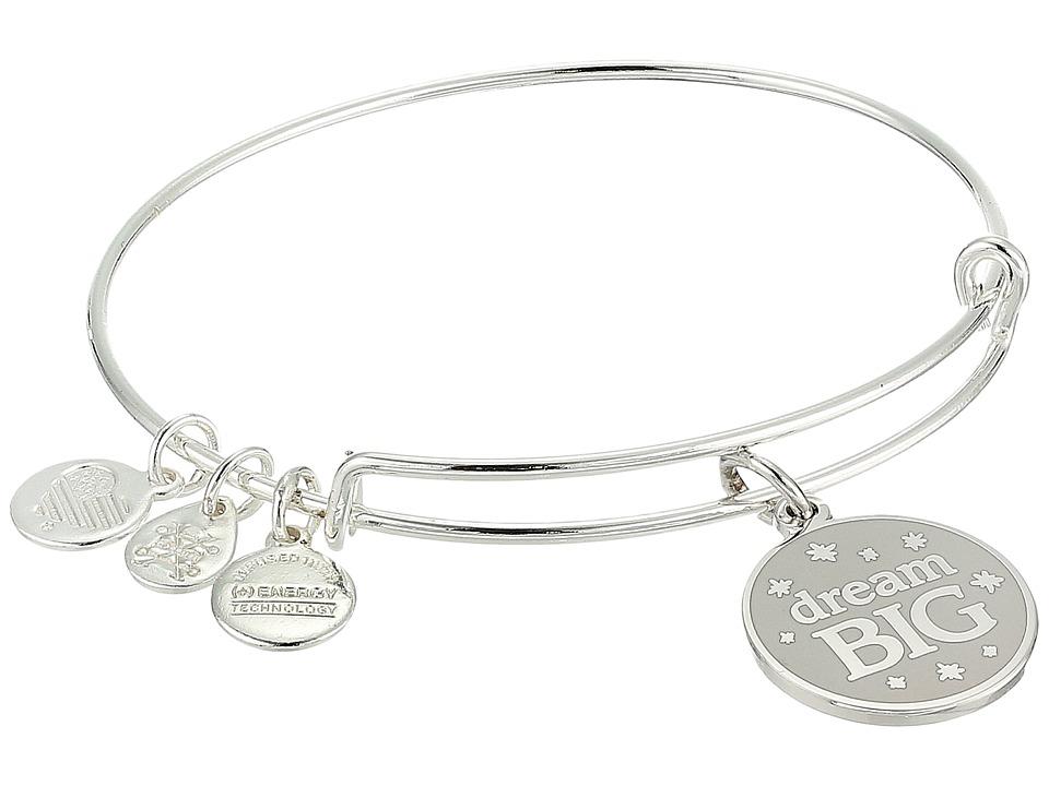 Alex and Ani - Words Are Powerful Dream Big Bangle (Shiny Silver) Bracelet