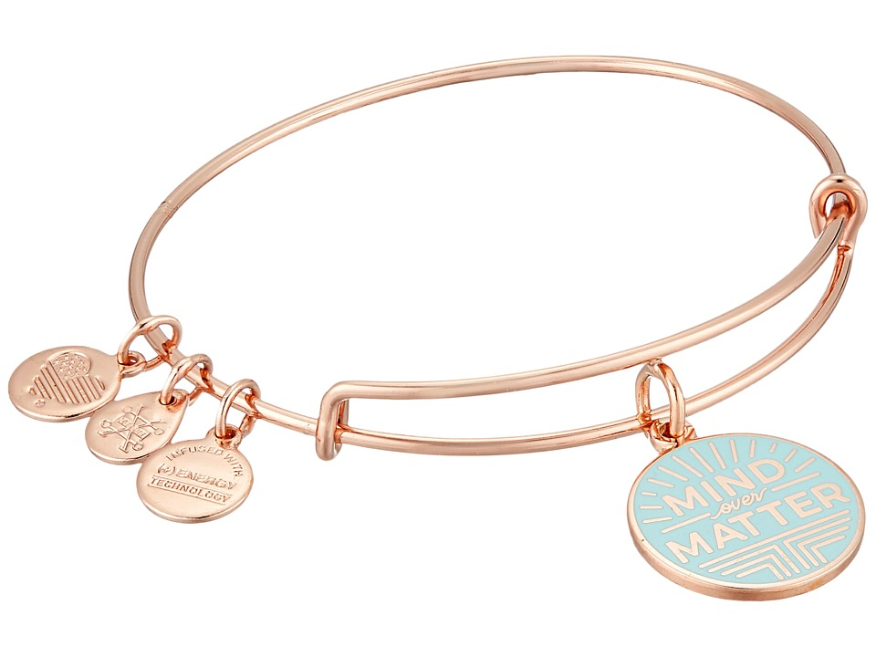 Alex and Ani - Words Are Powerful Mind Over Matter Bangle (Shiny Rose) Bracelet