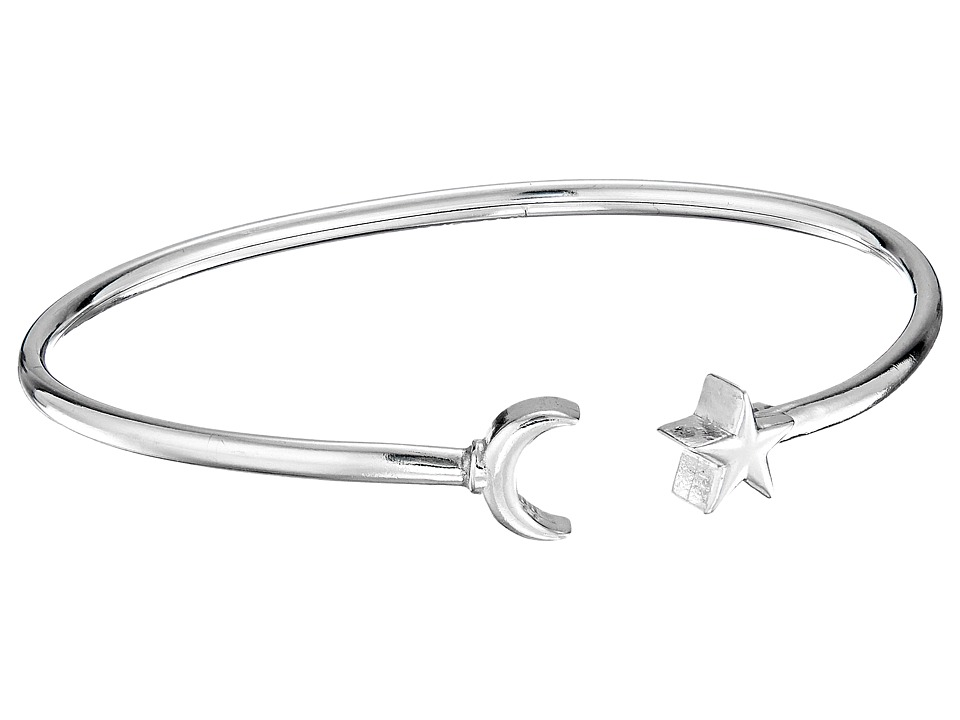 Alex and Ani - Moon and Star Cuff Bracelet (Sterling Silver) Bracelet