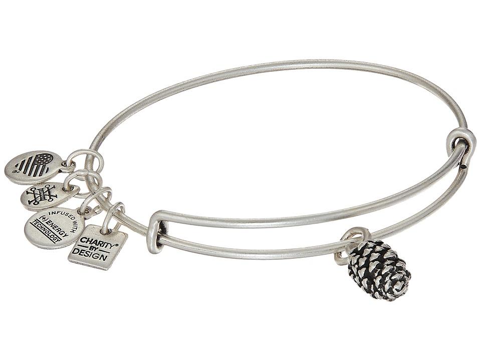 Alex and Ani - Charity By Design Pinecone Bangle (Rafaelian Silver) Bracelet