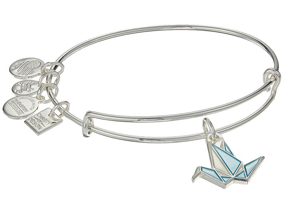 Alex and Ani - Charity By Design Paper Crane Bangle (Shiny Silver) Bracelet