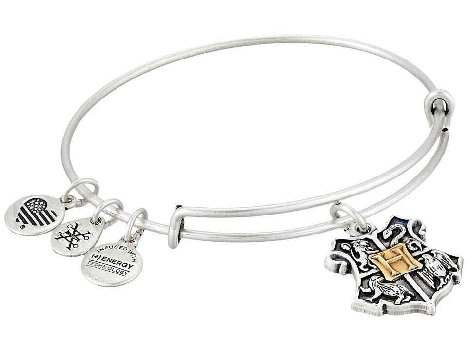 Alex and Ani - Harry Potter Hogwarts Two-Tone Bangle (Rafaelian Silver) Bracelet